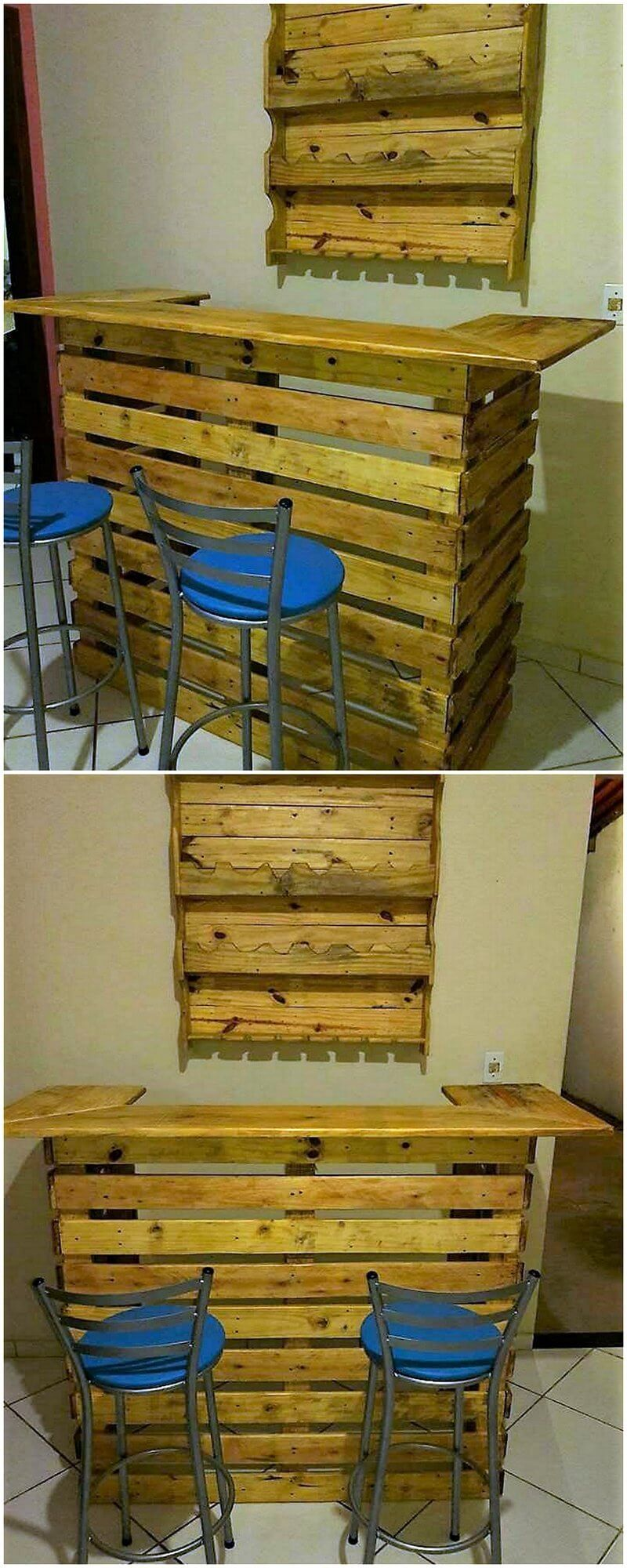 pallets wooden made bar