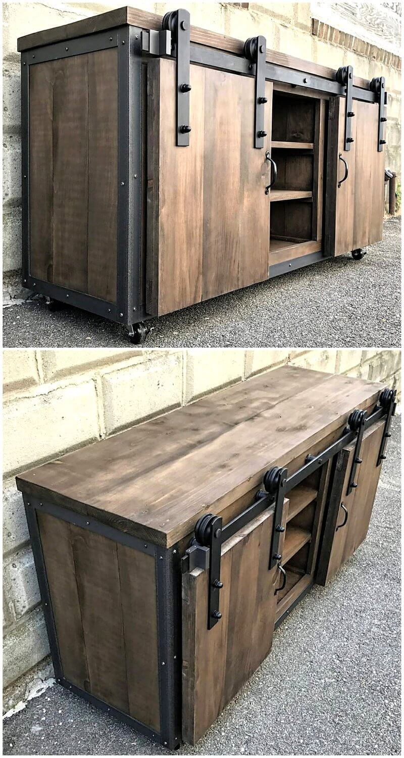reclaimed wood pallets tv stand