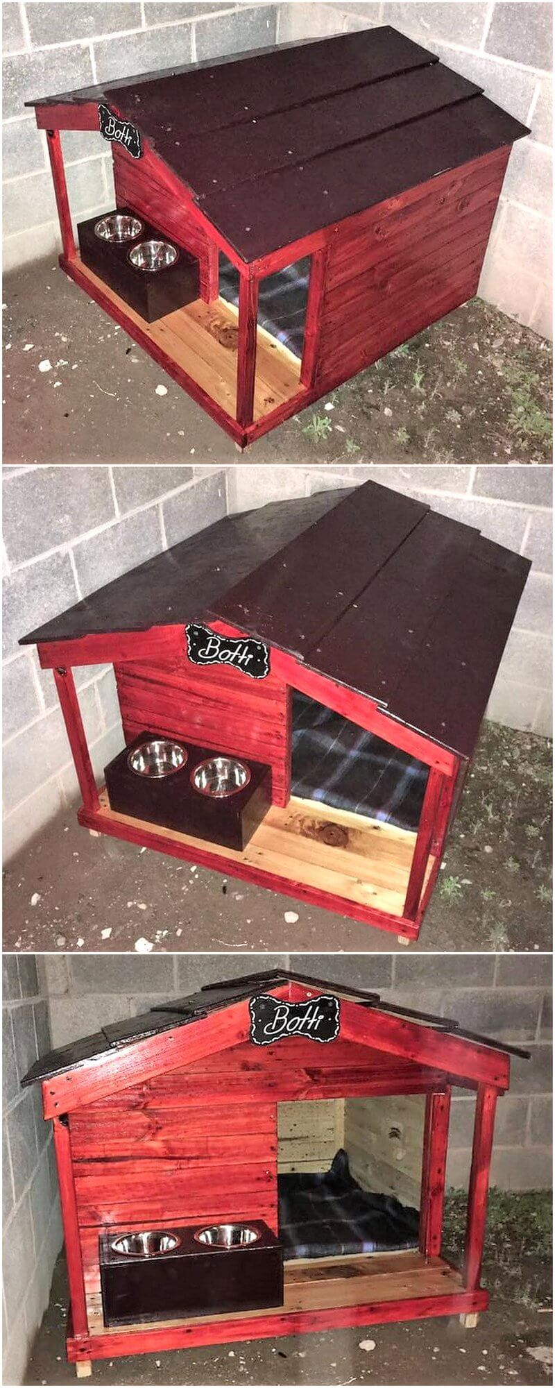 recycled pallets dog house