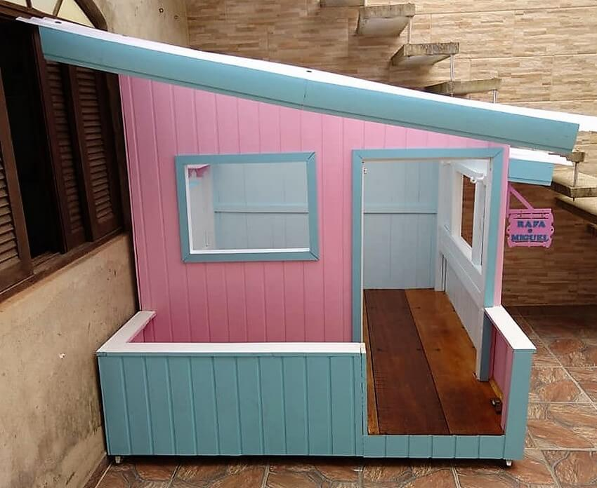 reused pallets doll house diy