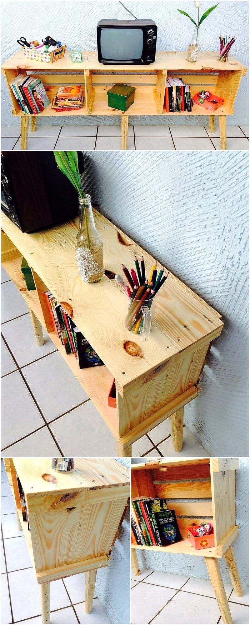 simple pallet tv stand