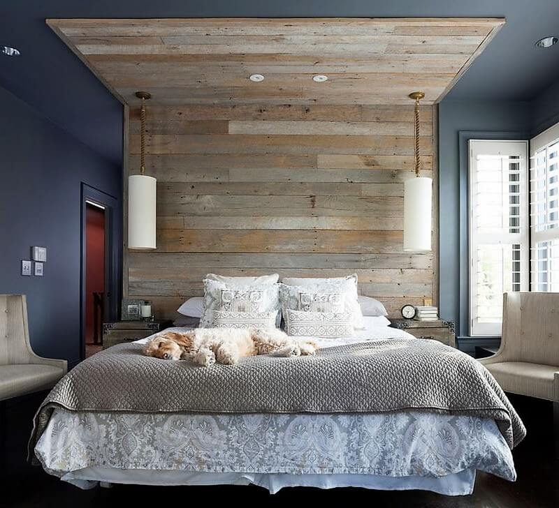 wood pallet bed headboard art