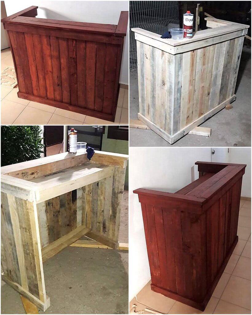 wood pallet counter desk