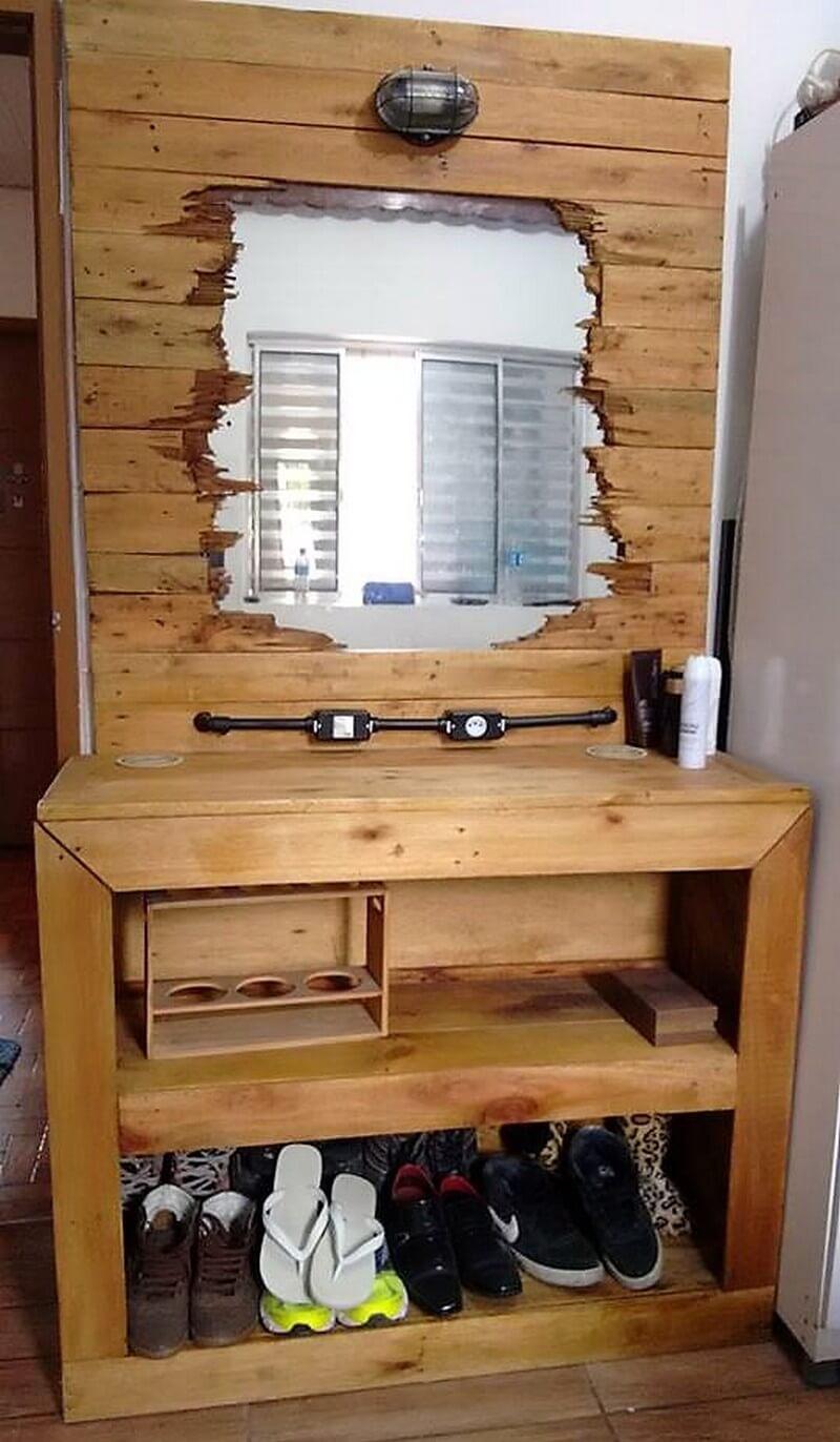 wood pallet dressing