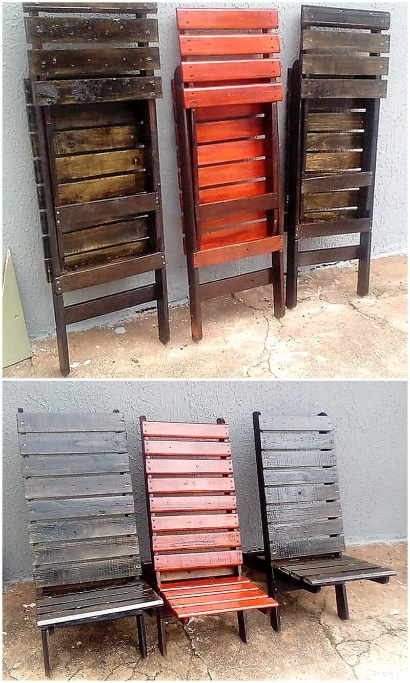 wood pallet foldable chairs