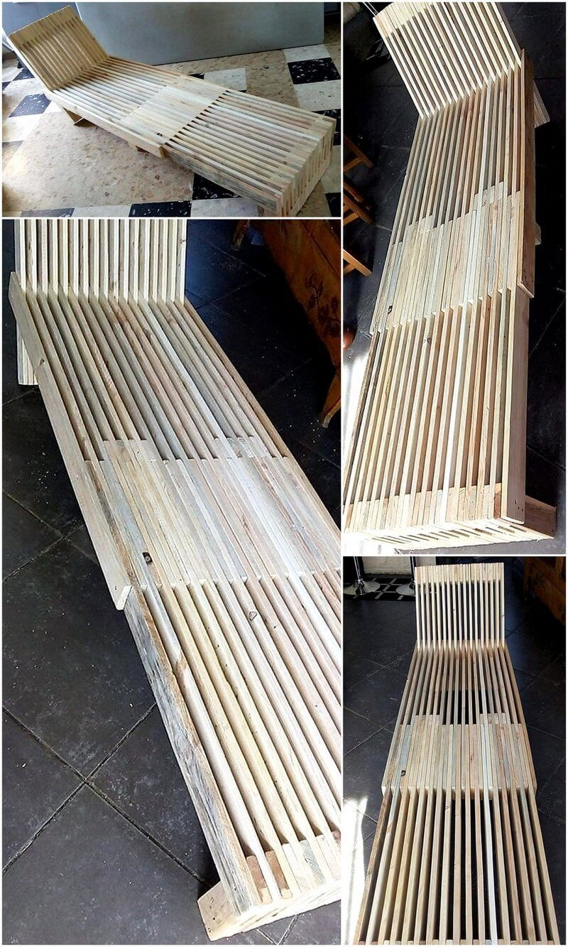 wood pallet long chair
