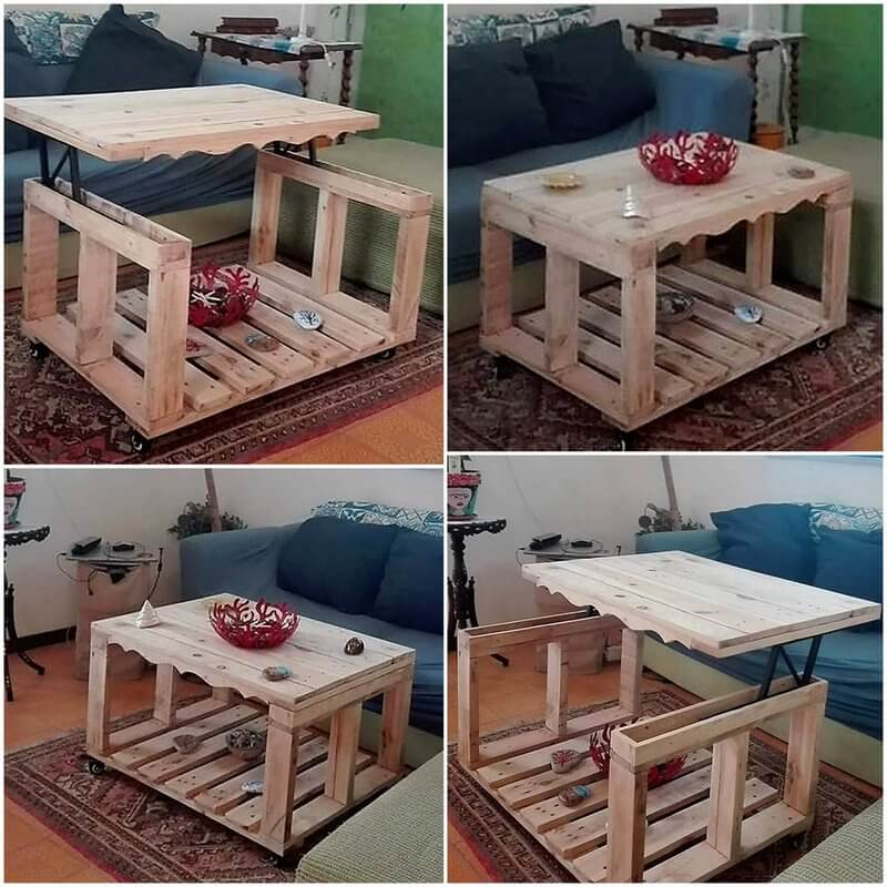 wood pallet topup table