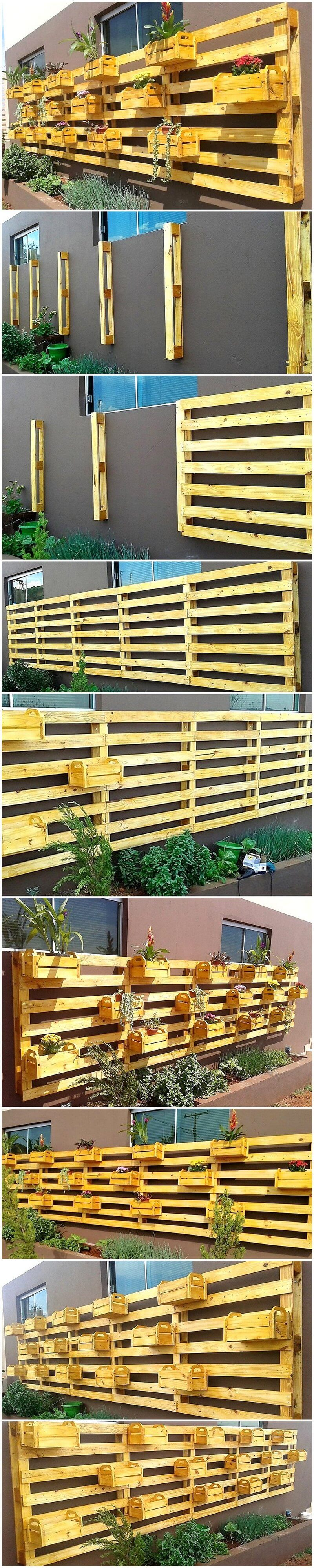 wood pallet verticle planters