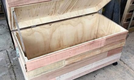 Repurposed Wood Pallets Made Toy Box