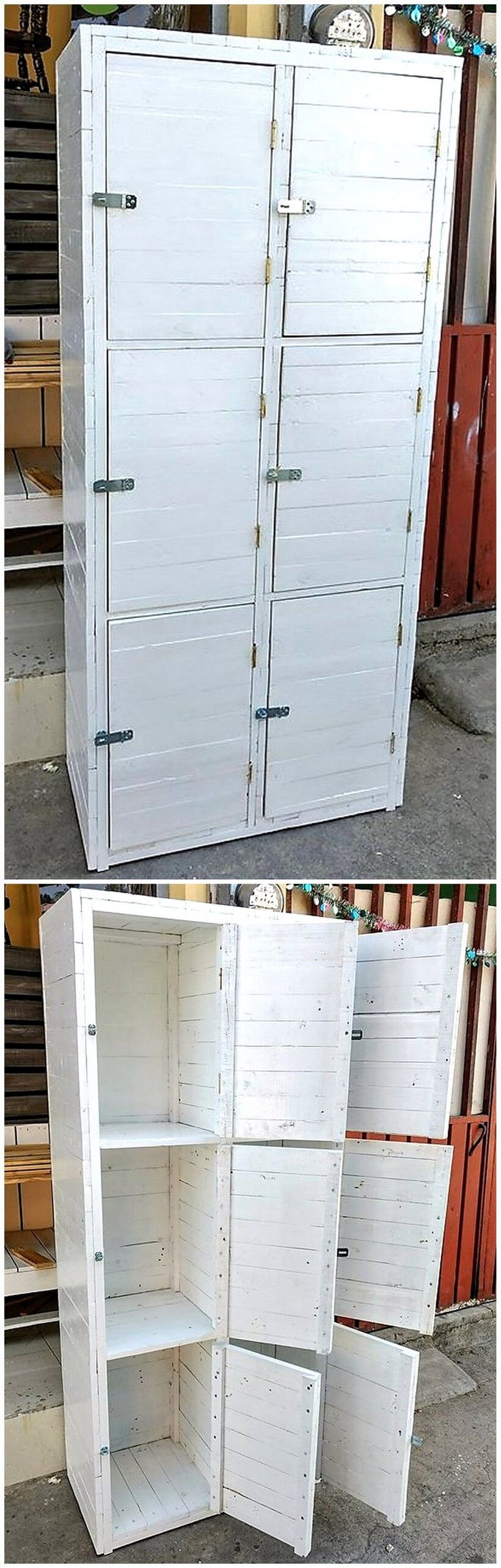wooden pallets closet idea