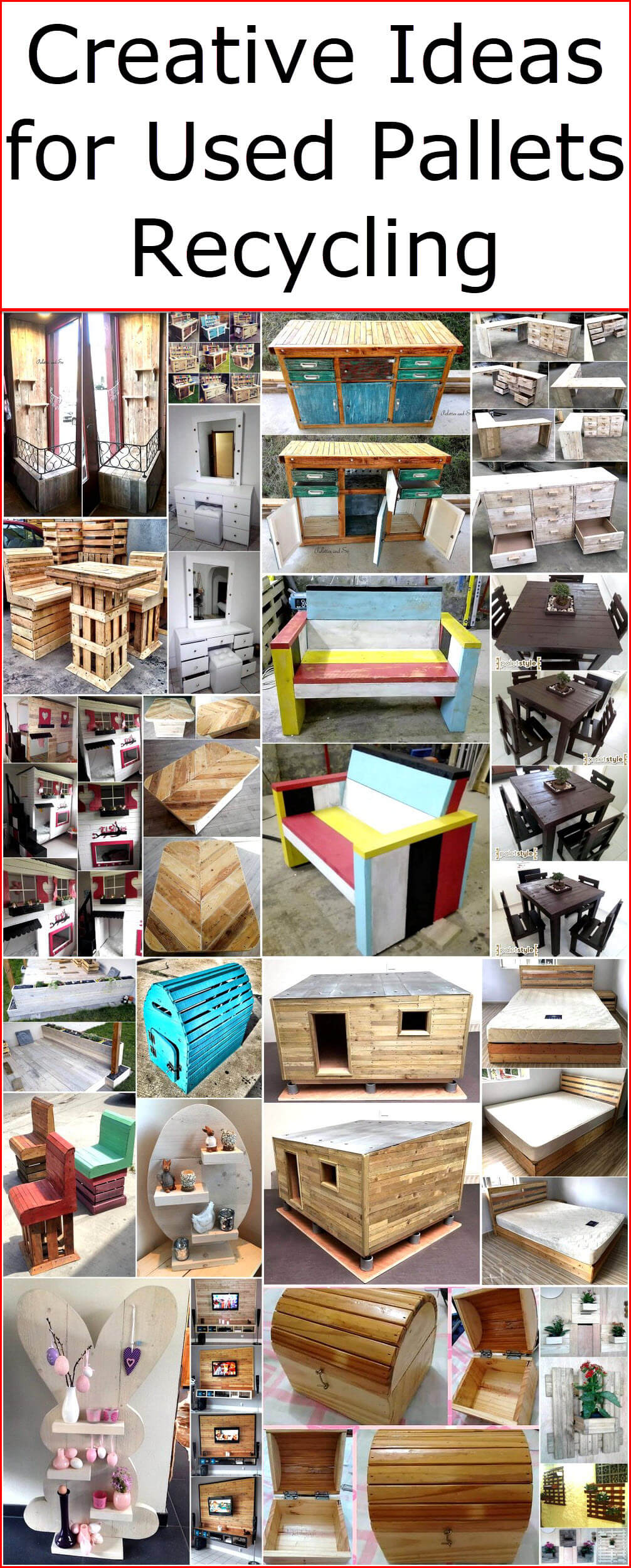 Creative Ideas for Used Pallets Recycling