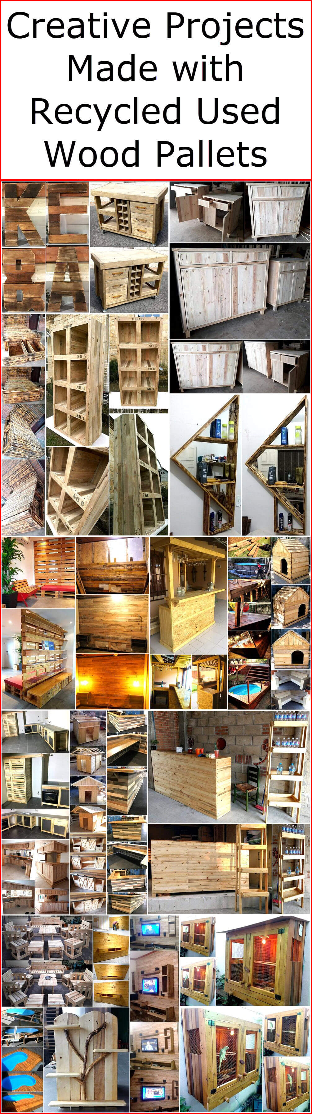 Creative Projects Made with Recycled Used Wood Pallets