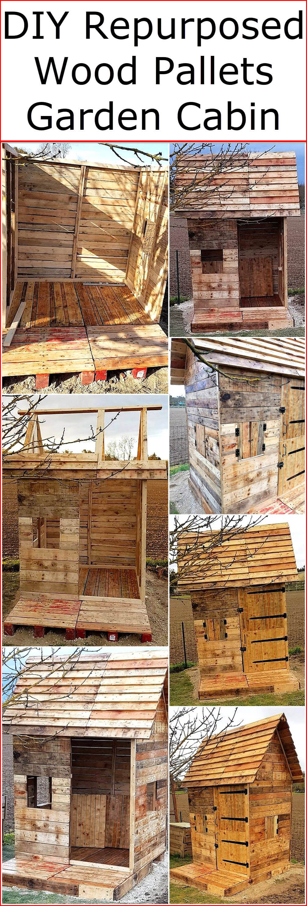 DIY Repurposed Wood Pallets Garden Cabin