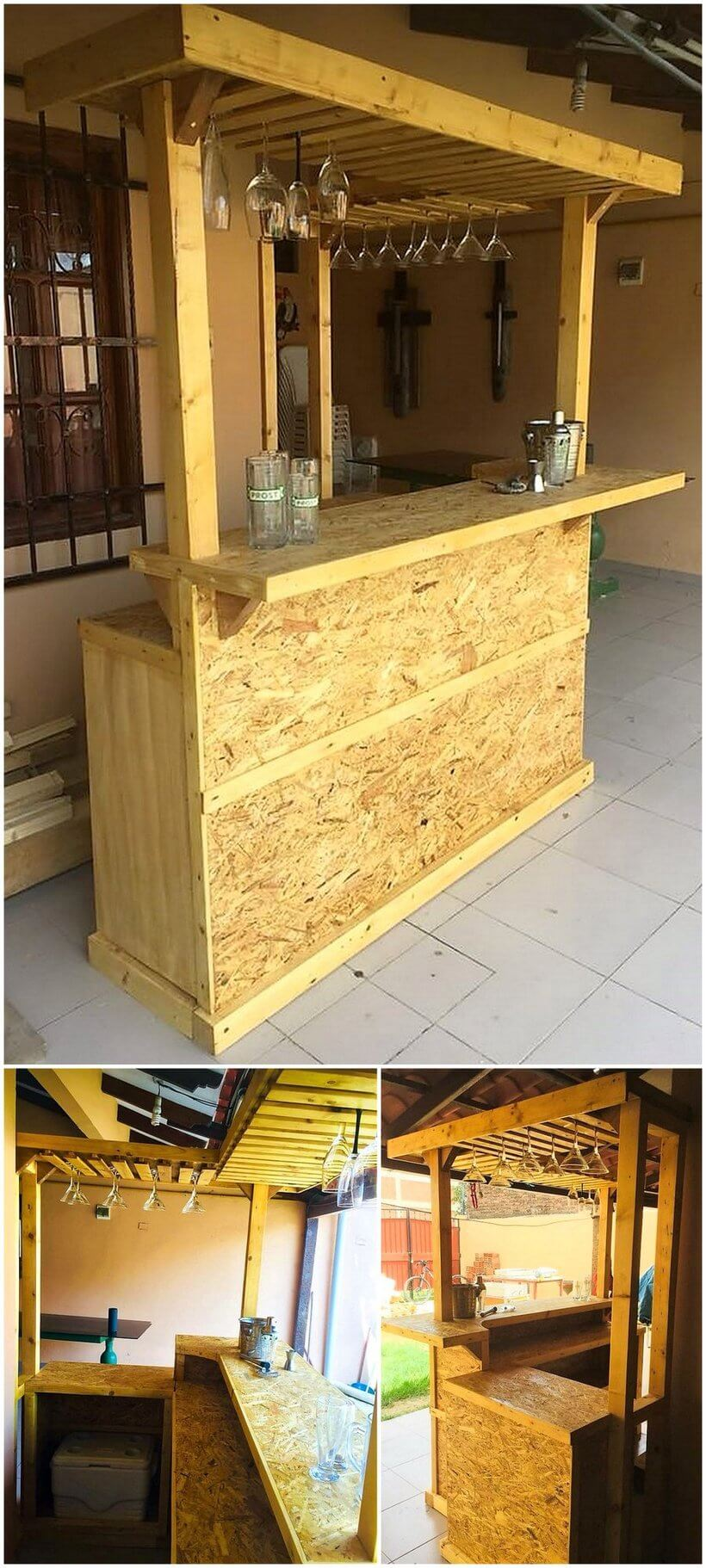 bar made with used pallets