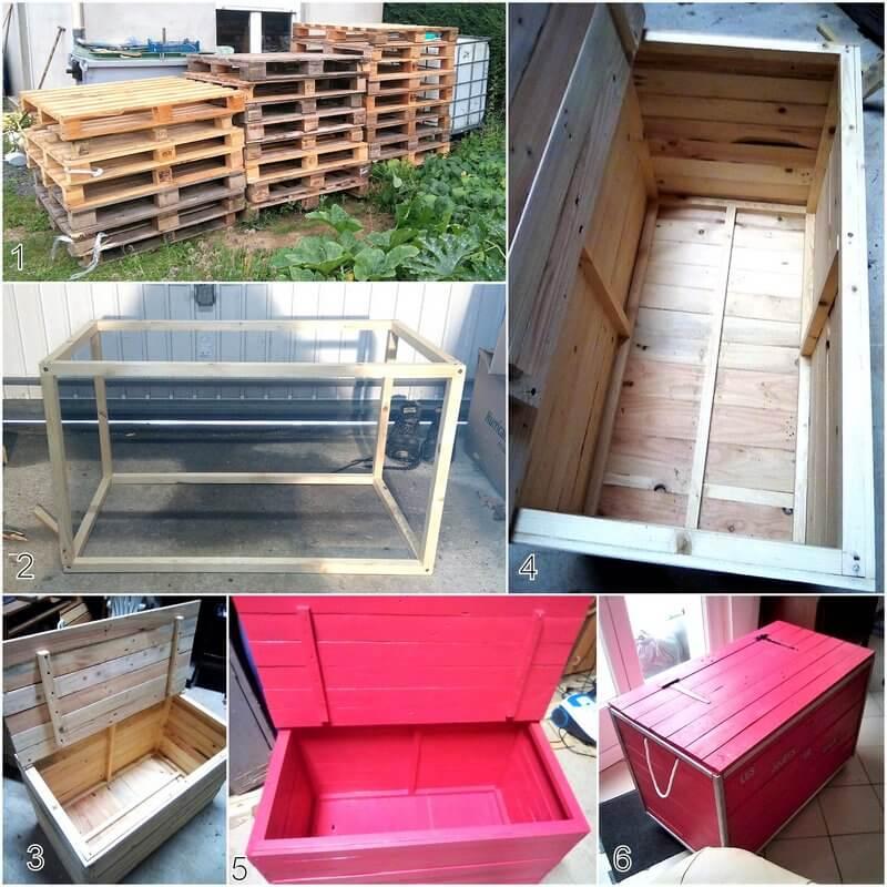 diy pallet chest bench plan