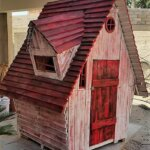 DIY Recycled Wood Pallet Kids Playhouse Plan