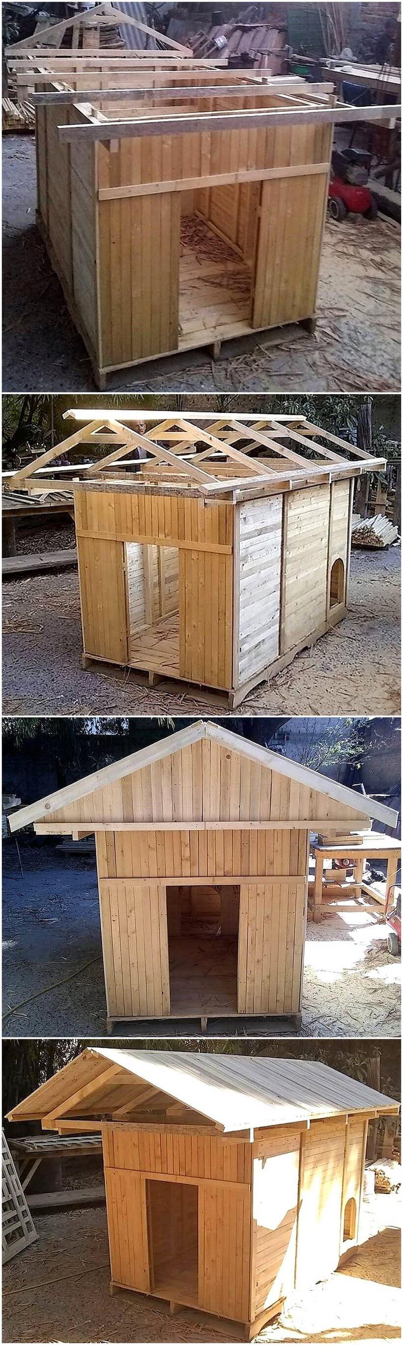 diy wood pallets dog house