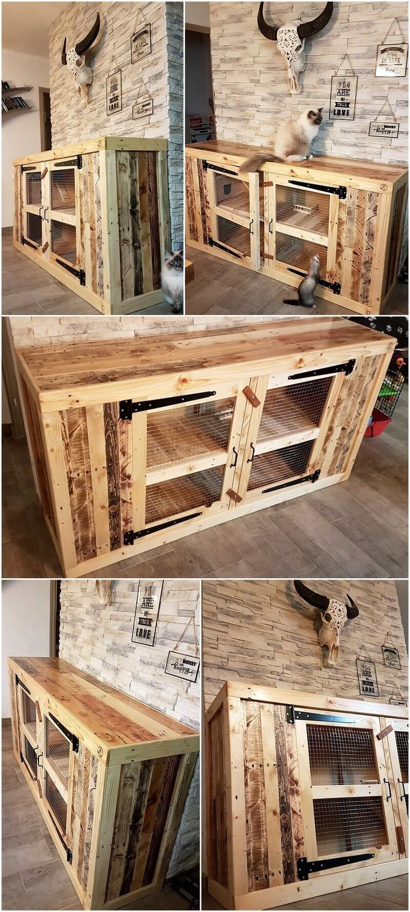 pallet entryway cat house table