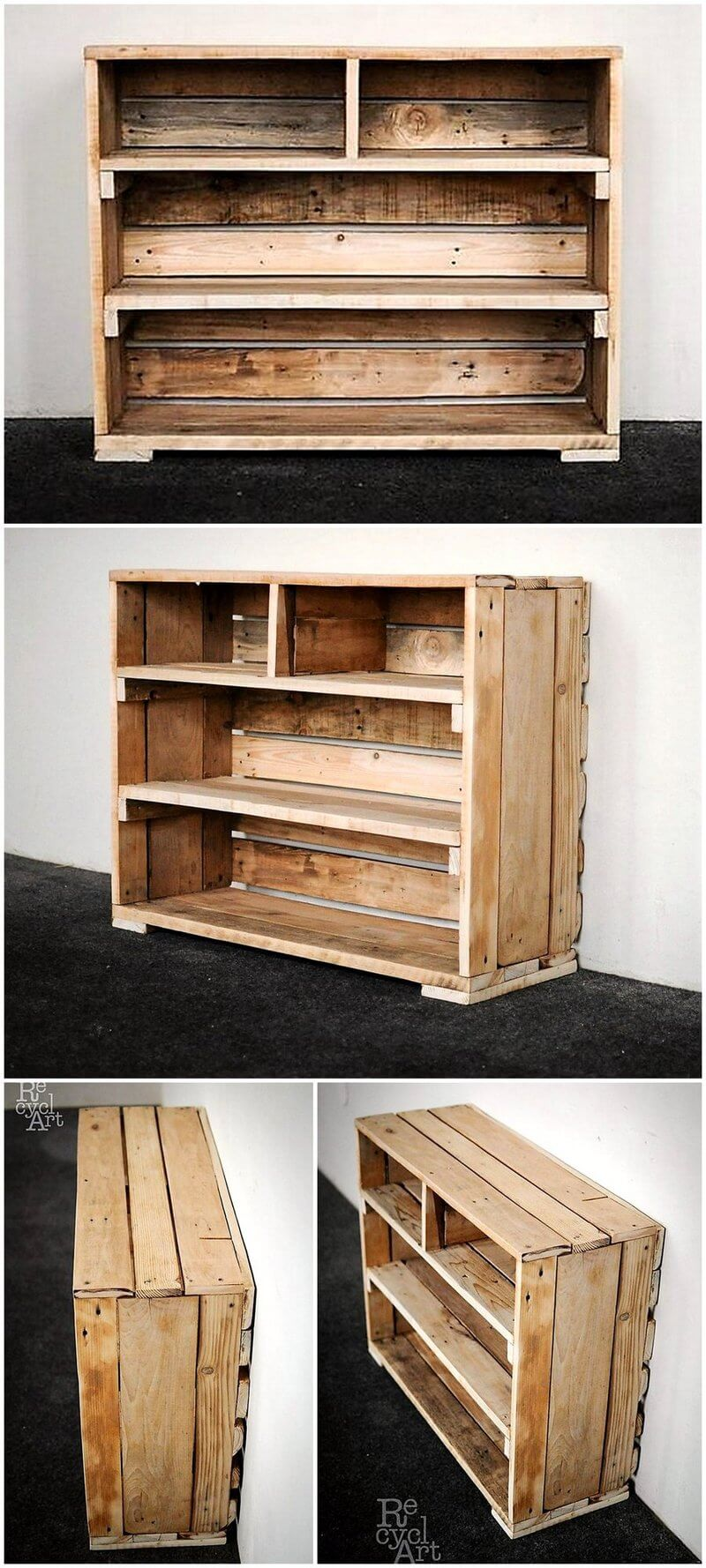 pallet fruit crates made shelving table