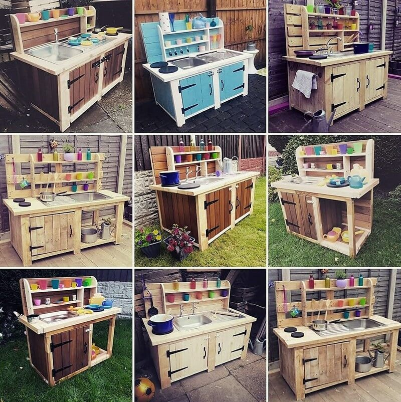 pallet kids mud kitchens