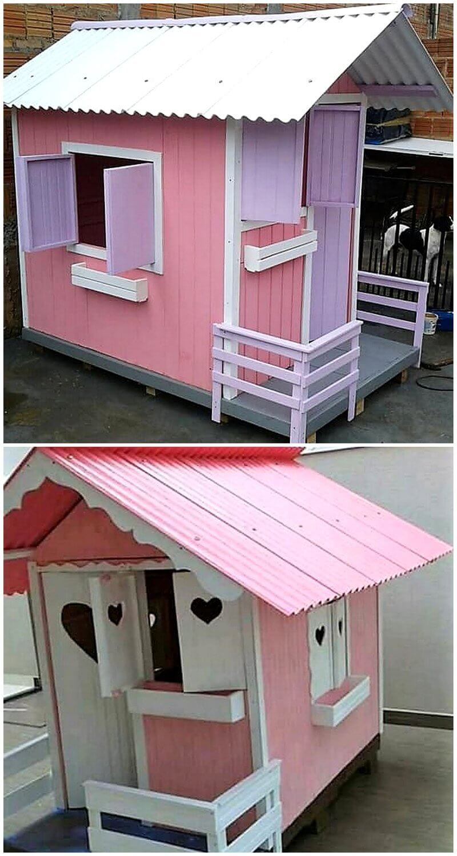 pallet kids playhouse