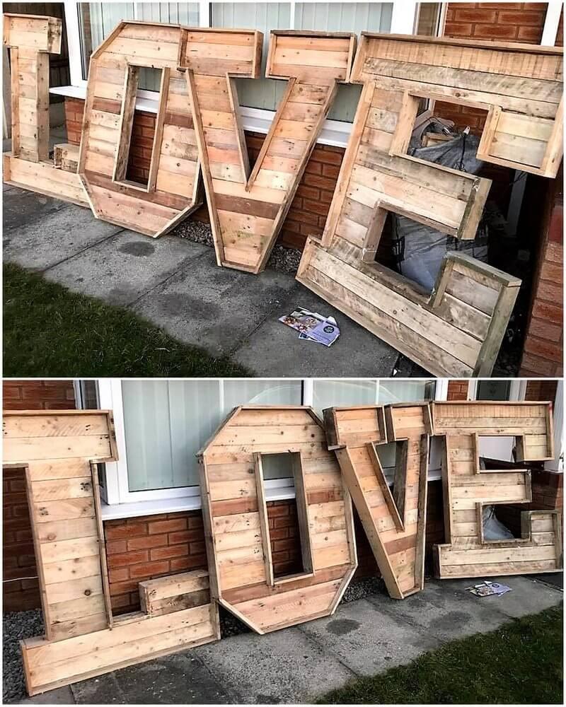 pallet love art craft