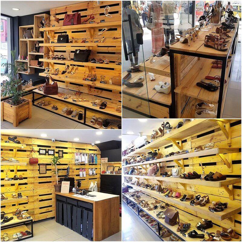 pallet shoe shop shelving