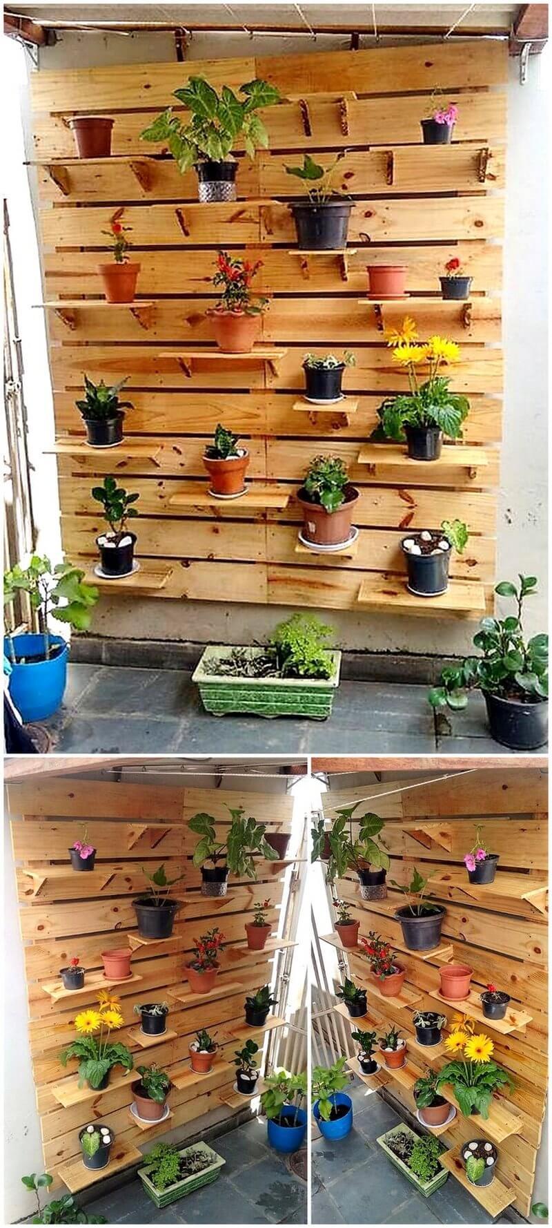 pallet vertical planter art