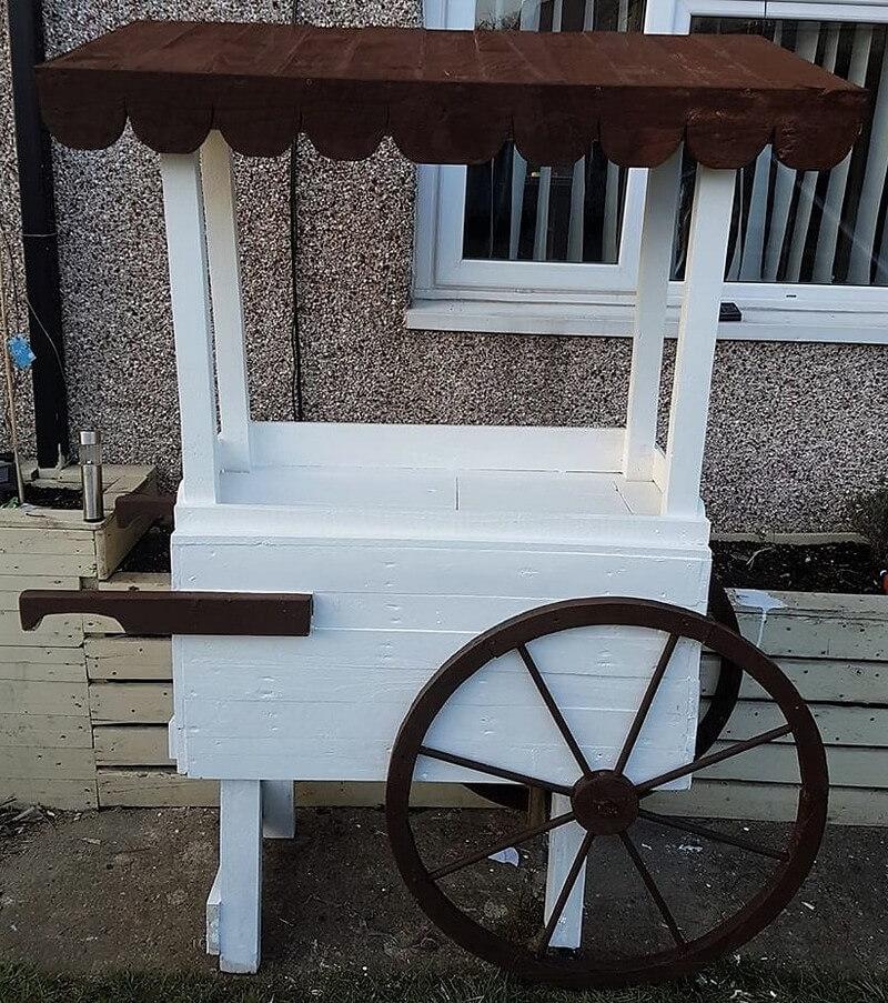 pallet wood icecream cart