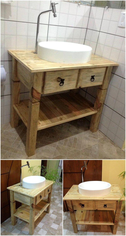 pallet wooden basin