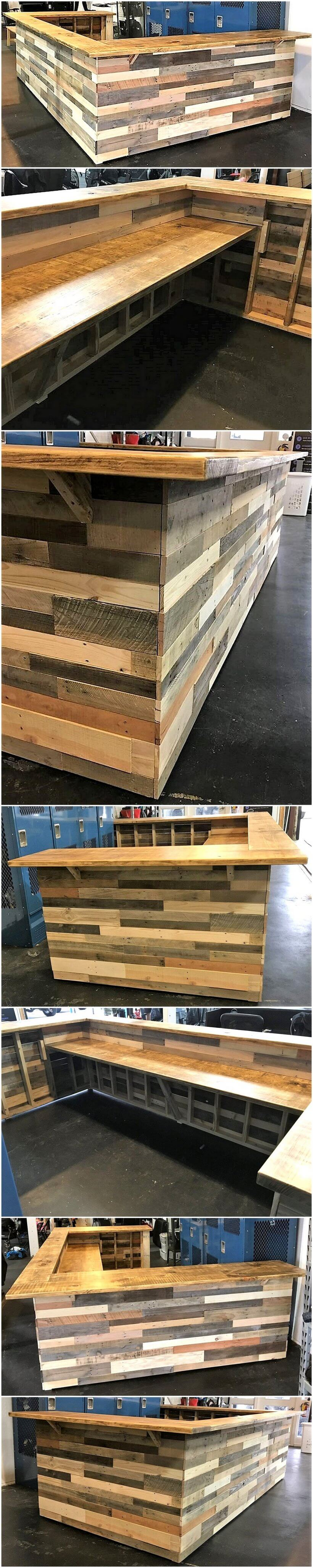 pallets wooden bar project