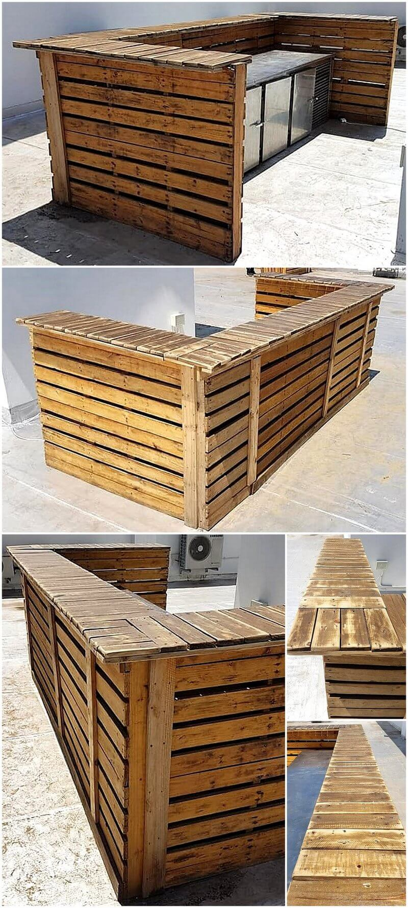 recycled wood pallet bar plan