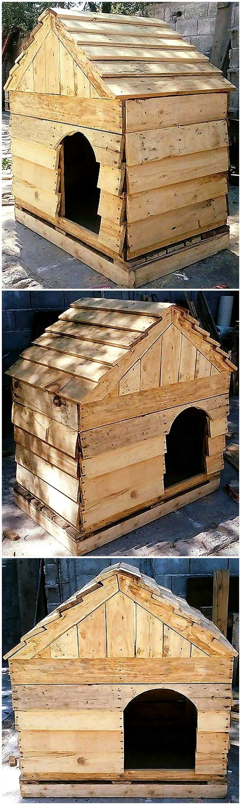 recycled wooden pallets dog house