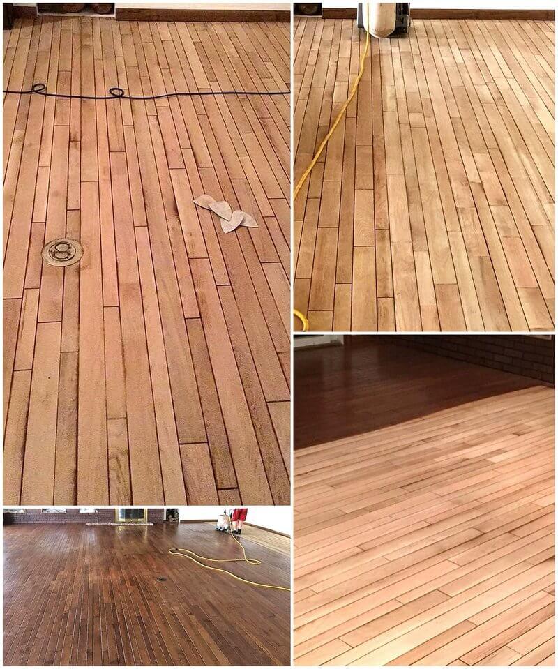 repurposed pallet wood floor
