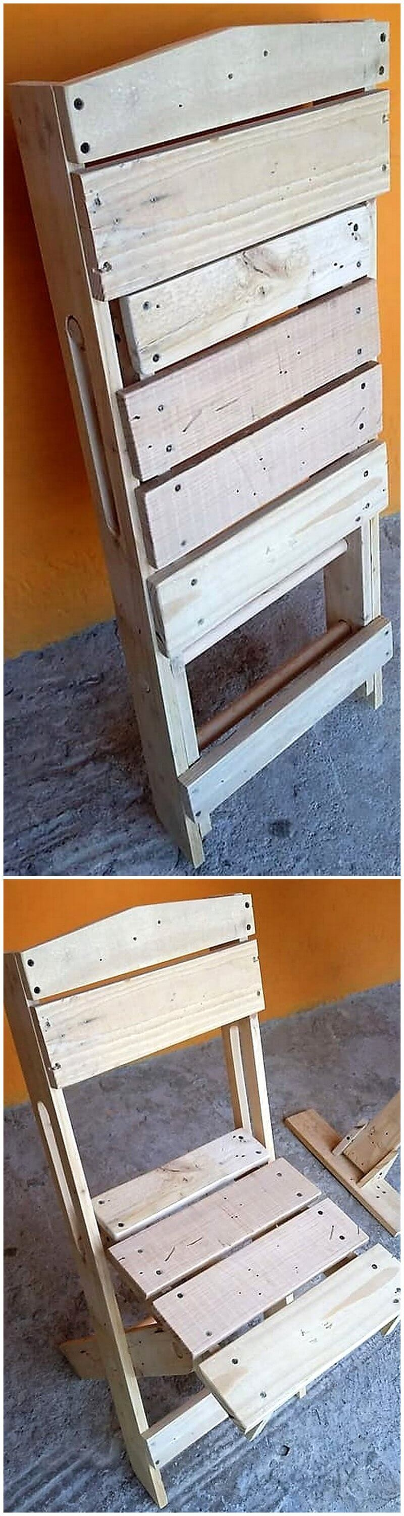 reused pallet folding chair
