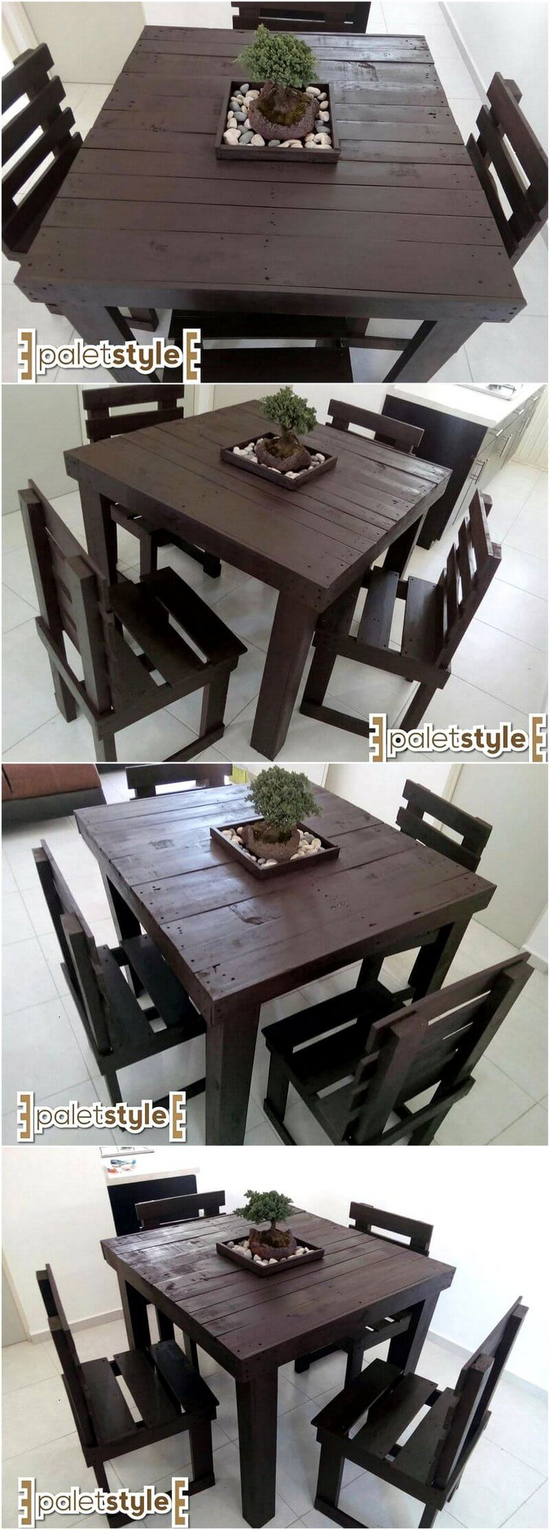 reused pallet furniture set