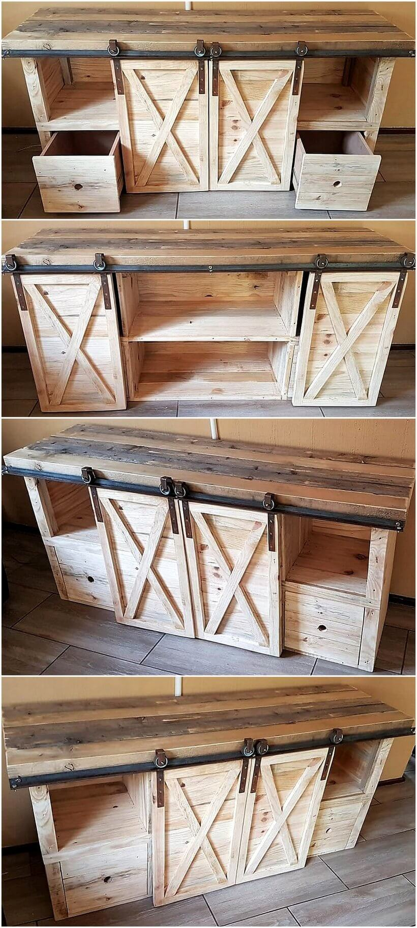 rustic tv stand out of pallets