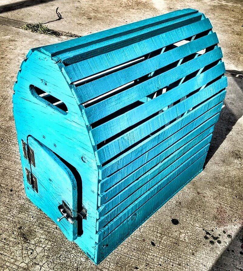 wood pallet bird cage