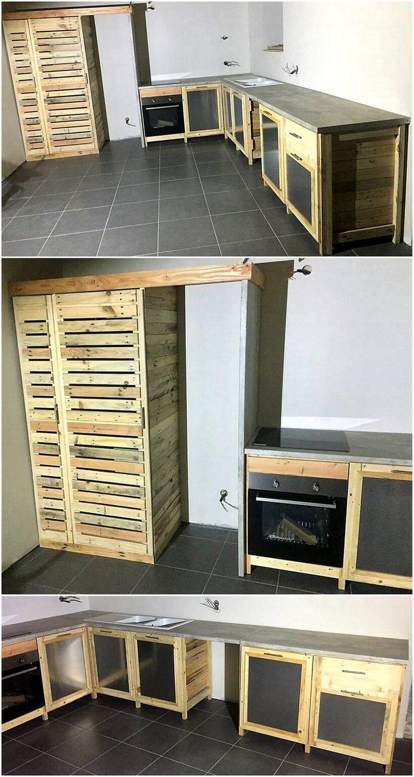 wood pallet kitchen works