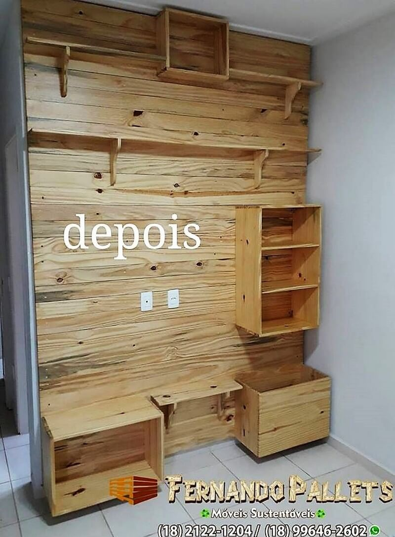 wood pallet media console