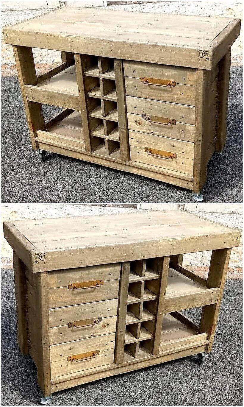 wood pallets kitchen island