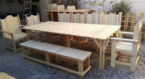 pallet outdoor dining set