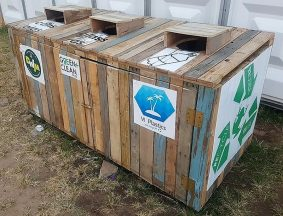 pallet recycling or wastage bin