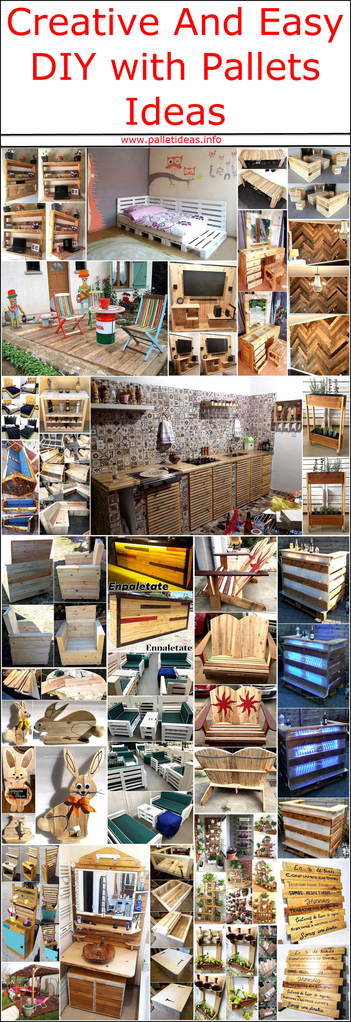 Creative And Easy Diy With Pallets Ideas Pallet Ideas